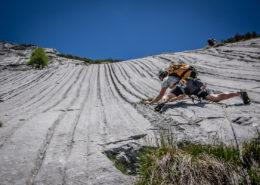 Die Mountain Dudes klettern über die Südostschulter zum kleinen Ödstein