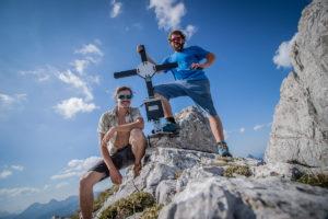 Die Mountain Dudes am Gipfel des kleinen Ödstein