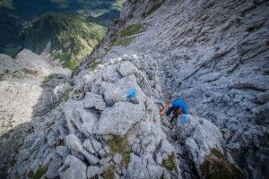 Klettern am kleinen Ödstein | Abstieg | Mountain Dudes